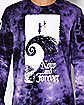 Tie Dye Now and Forever Jack and Sally T Shirt - The Nightmare Before Christmas