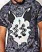 Tie Dye Melting Cat T Shirt