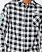 Checkered Rick and Morty Button Down Shirt - Slim Fit