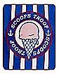 Scoops Troop Fleece Blanket - Stranger Things
