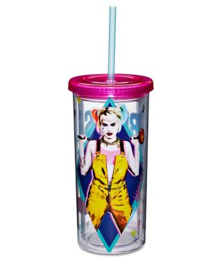 Harley Quinn Birds of Prey Cup with Straw