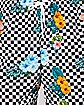 Checkered Floral Shorts