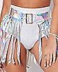 Iridescent Fringe Skirt