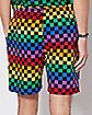 Rainbow Checkered Shorts