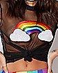 Rainbow Mesh T Shirt