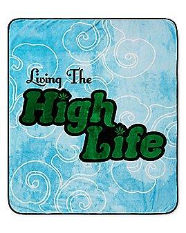 Living the High Life Leaf Fleece Blanket