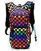 Checkered Rainbow Hydration Backpack