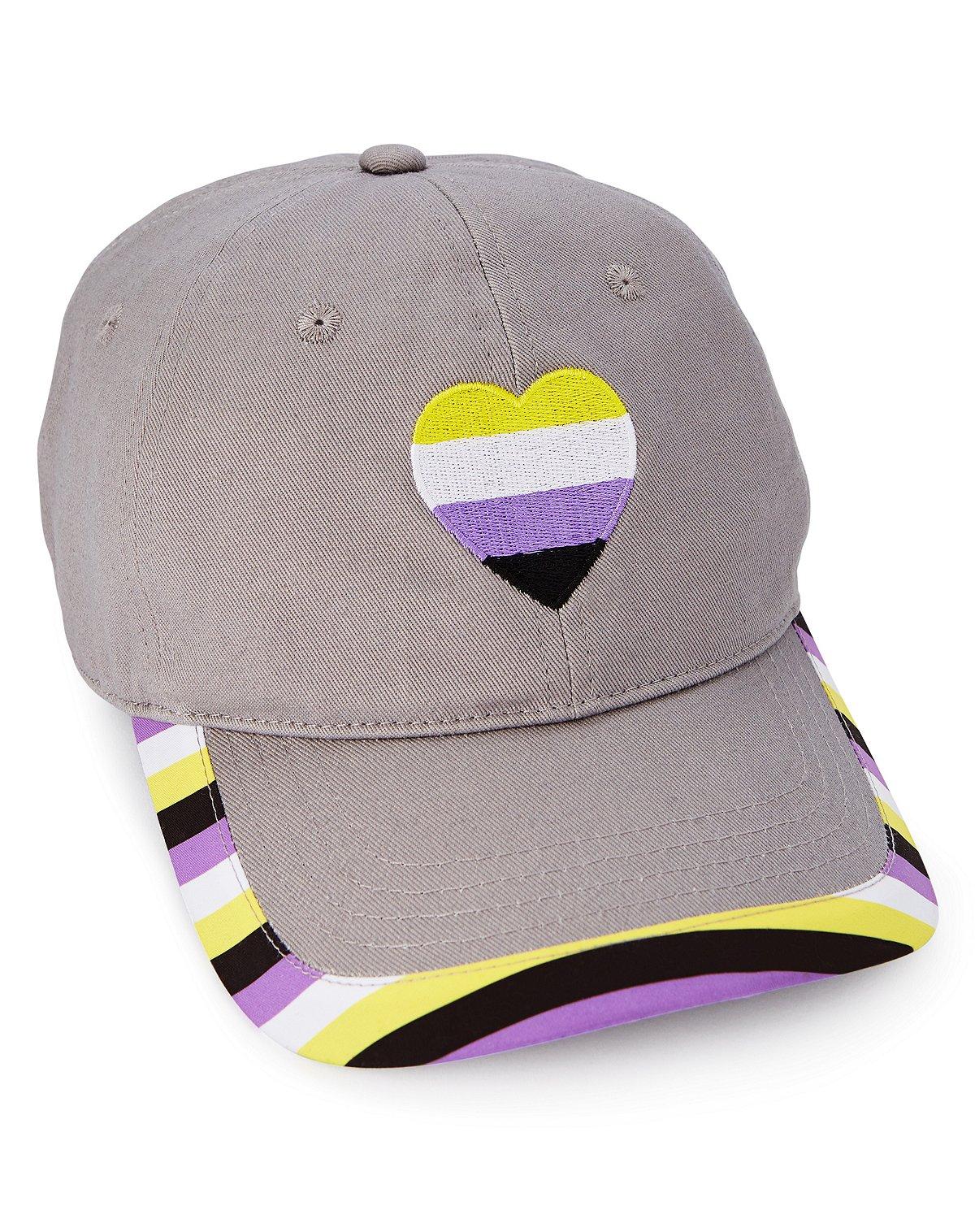 Non-binary pride flag dad hat