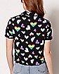 Pride Hearts Button Down Shirt