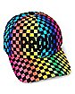 Checkered Rainbow Proud Dad Hat