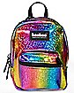 Glitter Rainbow Booboo Mini Backpack - 6 Inch