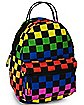 Rainbow Checkered Mini Backpack