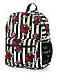 Roses Striped Backpack