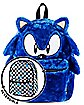 Faux Fur Sonic The Hedgehog Reversible Backpack