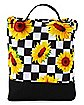 Checkered Sunflower Lunch Box
