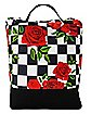 Checkered Rose Lunch Box