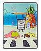 DoodleBob Fleece Blanket - SpongeBob SquarePants