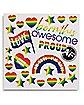 Rainbow Pride Flag Body Stickers