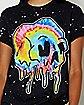 Melting Skull Splatter T Shirt