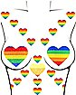 Rainbow Pride Glitter Heart Nipple Pasties