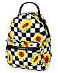 Checkered Sunflower Mini Backpack