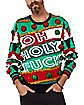 Light-Up Oh Holy Fuck Ugly Christmas Sweater