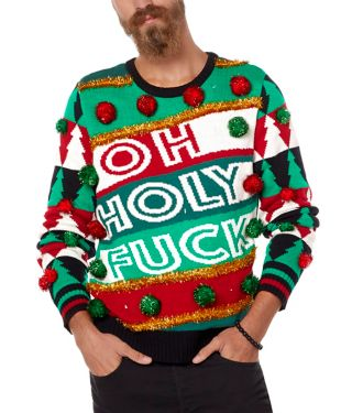 Oh Holy Fuck Ugly Christmas Sweater