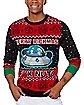 Light-Up Merry Rickmas Ugly Christmas Sweater - Rick and Morty
