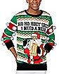 Light-Up Ho Ho Holy Shit I Need a Beer Ugly Christmas Sweater