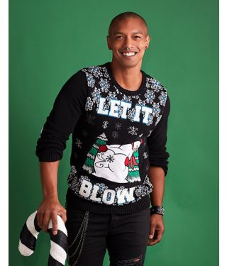 Let It Blow Ugly Christmas Sweater