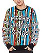 Light-Up Merry Fucking Xmas Ugly Christmas Sweater