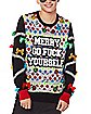 Light-Up Merry Go Fuck Yourself Ugly Christmas Sweater