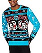 Light-Up Boats 'N Hoes Ugly Christmas Sweater - Step Brothers
