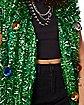Light-Up Green Tinsel Christmas Ornament Vest