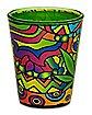 Green Leaf Art Shot Glass – 1.5 oz.
