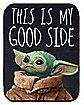 This is my Good Side The Child Grogu Fleece Blanket – The Mandalorian