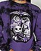 Purple Halloweentown Long Sleeve T Shirt - The Nightmare Before Christmas