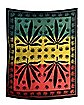 Rasta Leaf Tapestry