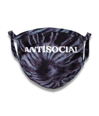 Tie dye antisocial face mask