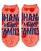 Multi-Pack Ohana No Show Socks 5 Pair - Lilo & Stitch