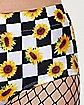 Checkered Sunflower Shorts