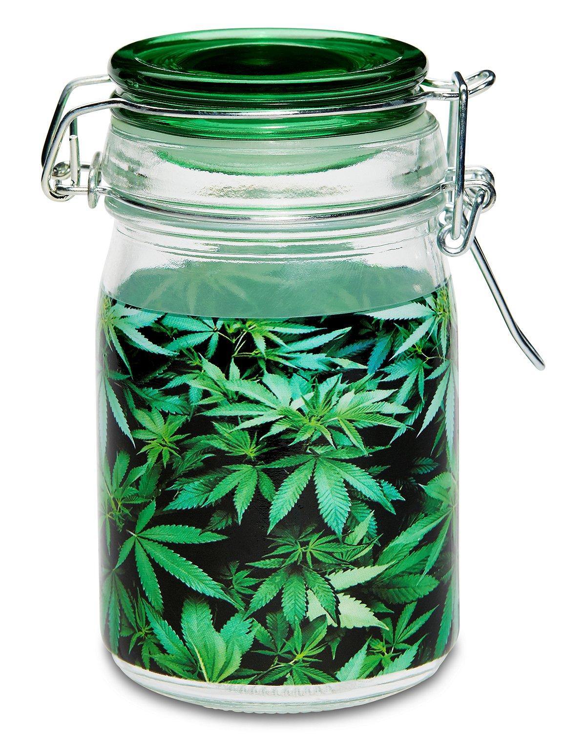 Green Leaves Storage Jar