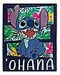 Ohana Stitch Fleece Blanket – Lilo & Stitch