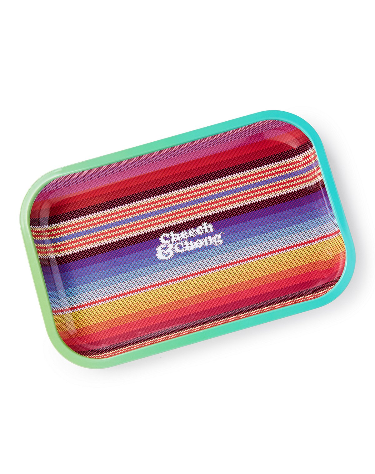 Striped Cheech and Chong Rolling Tray