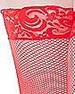 Plus Size Red Lace Top Thigh High Stockings