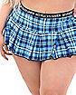 Plus Size No Fucks Given Plaid Skirt