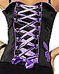 Purple and Black Lace Up Corset Set - Playboy
