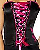 Pink and Black Lace Up Corset Set - Playboy
