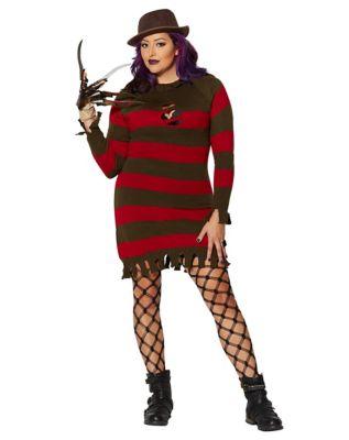 Adult Miss Freddy Krueger Plus Size Costume Nightmare On Elm