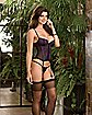 Dreamgirl Mesh and Lace Corset with Garters